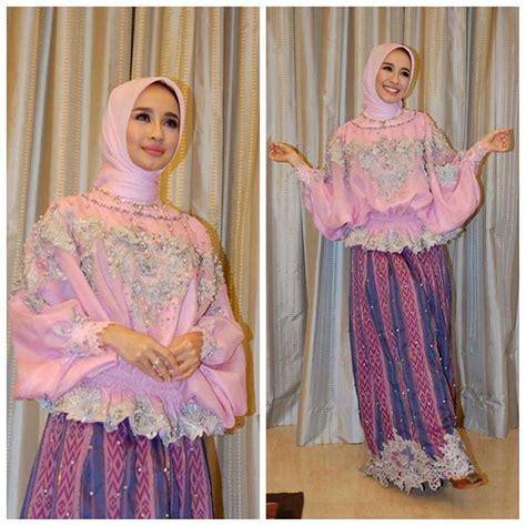 Fashion Wanita Kebaya Cape Lace Terbaru 17 best ideas about kebaya muslim on kebaya