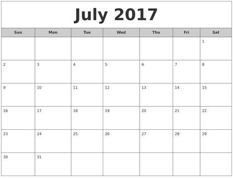 printable monthly calendar 2017 calendar 2017 online calendar 2017