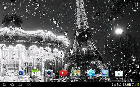 wallpaper untuk google rainy paris live wallpaper android apps on google play