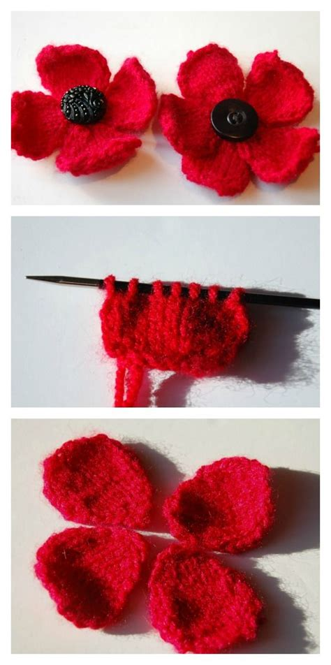 knitting pattern poppy free 25 best ideas about knitted poppies on