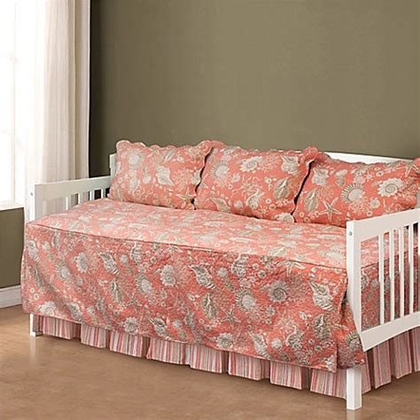 daybed comforter sets shells daybed bedding set in coral bed bath beyond