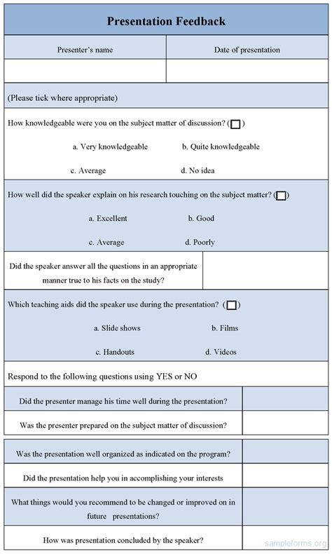feedback form template feedback form template images