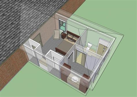 building a mother in law suite bels garage plans with covered patio