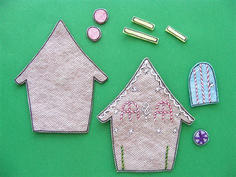 gingerbread a free felt christmas ornament pattern