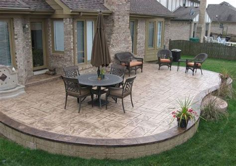 stamped concrete patio designs     Patios, Pool Decks