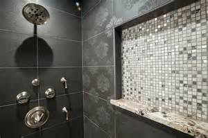 Bathroom Tile Design Ideas Black White - textured tile in black and white bathroom traditional bathroom oklahoma city by
