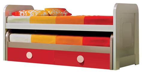 triple trundle bed md trundle kid beds cream red matte triple bed