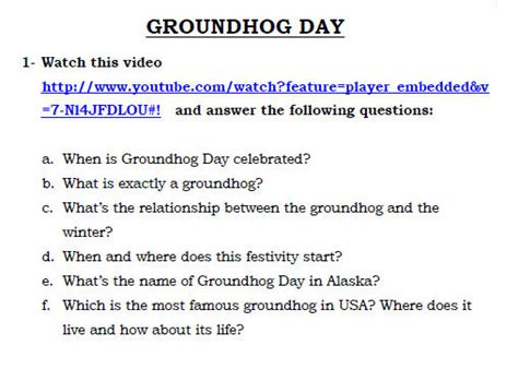 groundhog day viewing worksheet answers 5 free groundhog day worksheets