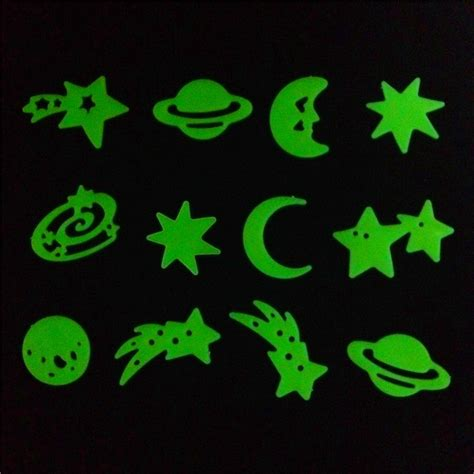 glow in the stickers for walls glow in the wall decal free shipping worldwide