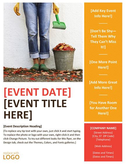 word templates for flyers free flyer templates word free download