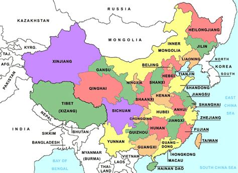 Political Map Of China by Online Maps China Political Map