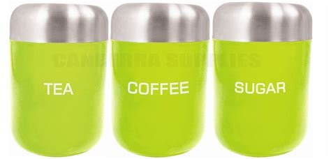 lime green kitchen canisters zodiac kitchen tea coffee sugar storage canister jar
