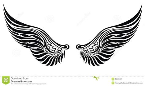 tatoo stock images royalty free wings isolated on white design royalty free