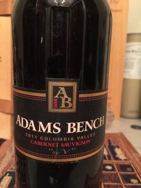 adams bench winery 2011 adams bench cabernet sauvignon quot the v quot usa