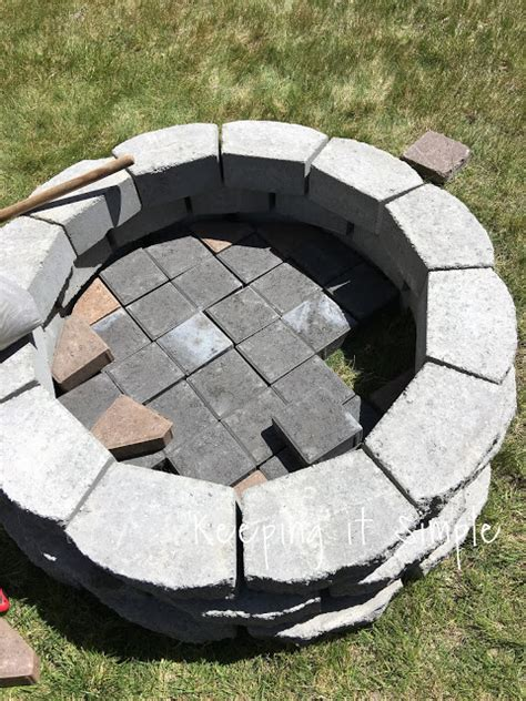 Easy Firepit Keeping It Simple How To Build A Diy Pit For Only 60