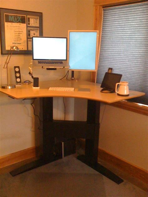 make stand up desk build your own stand up desk from recycled wood homesfeed