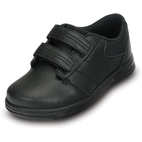 Comfortable Shoes For School by Crocs Shoe Ps Black Comfortable Leather School
