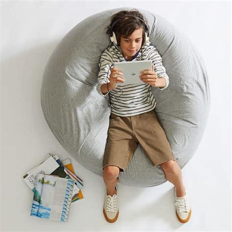 Ll Bean Duvet Covers Gray Heathered Jersey Beanbag Pbteen