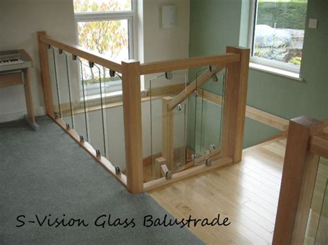 Replacement Banisters S Vision Glass Balustrading Oak Handrail With Glass