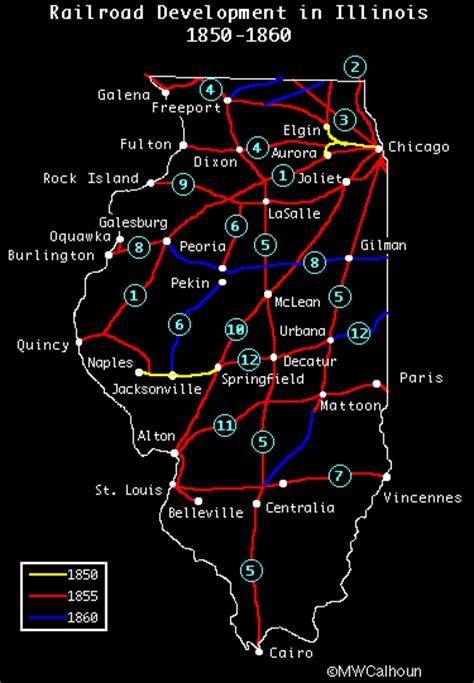 chicago map 1850 illinois railroads 1850 1860