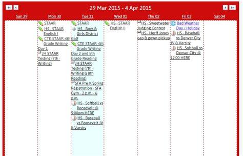 Isd Calendar Slaton Isd Calendar This Week Myslaton