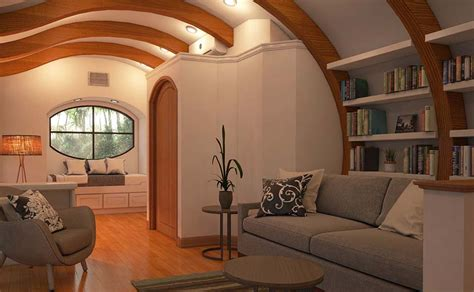 arc house net zero arc house shows how arches make tiny spaces feel bigger the arc house by