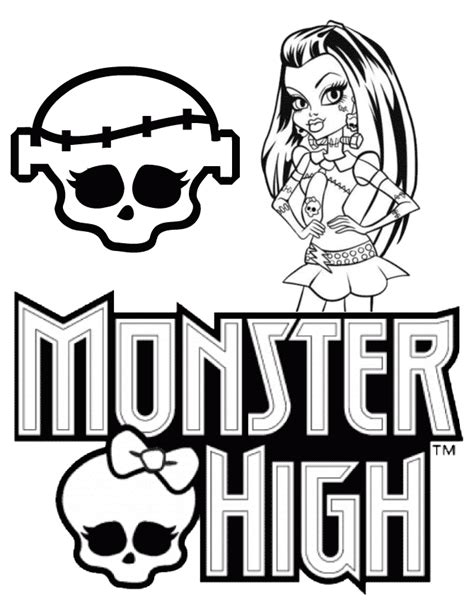 monster high skullette coloring pages frankie stein monster high coloring page h m coloring