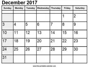 December 2017 Calendar December 2017 Calendar Australia Printable Template With