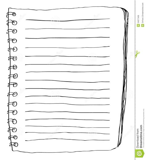 doodle paper note paper doodle stock vector image of diary document