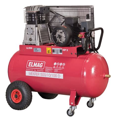 Lackieren Mit 50l Kompressor by Elmag Kompressor Typ Meister 500 10 100d 400v 2 2kw