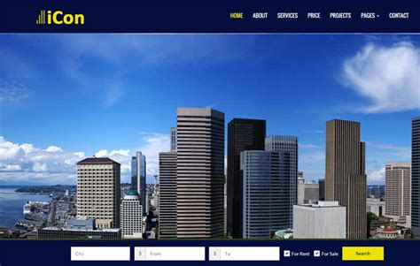 Top Real Estate Free Html Template By Webthemez Real Estate Responsive Website Templates Free