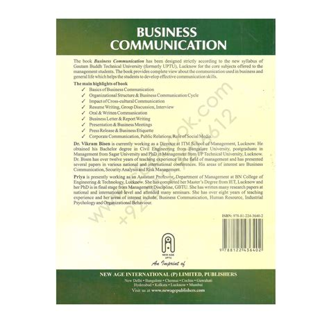 Mba Buisness Communication by Business Communication For Mba 2nd Edition By Vikram Bisen