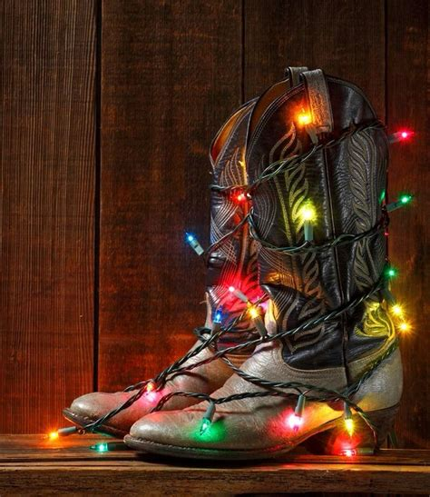 cowboy boots with christmas lights kel pinterest