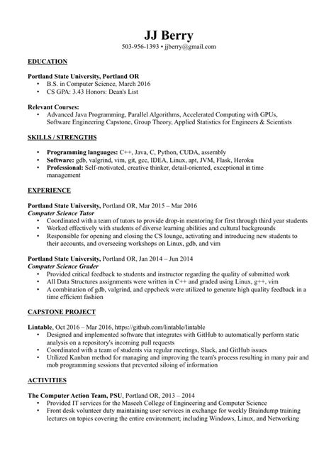 Programming Languages Research Papers by Computer Science Resume Programming Languages Paper Best Resume Templates