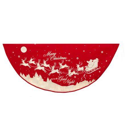 tree skirts walmart kurt adler 48 in reindeer and santa printed tree skirt walmart
