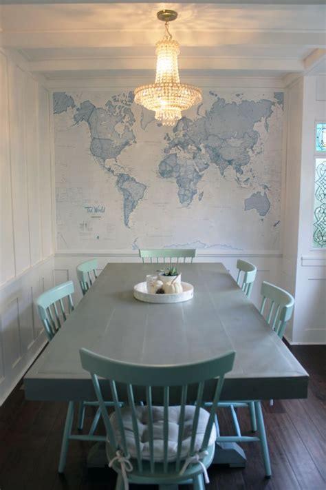 blue world map wallpaper mural muralswallpaper