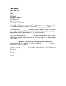 character reference letter for court template best