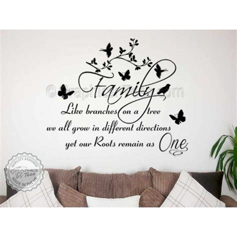 wall stickers tree branches family wall sticker inspirational quote family like