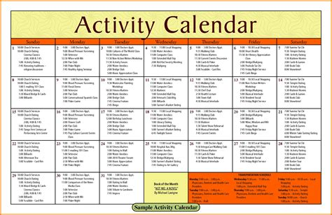 13 Church Calendar Template Cio Resumed Free Church Calendar Templates