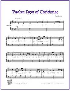 Of christmas free sheet music for easy piano the piano student
