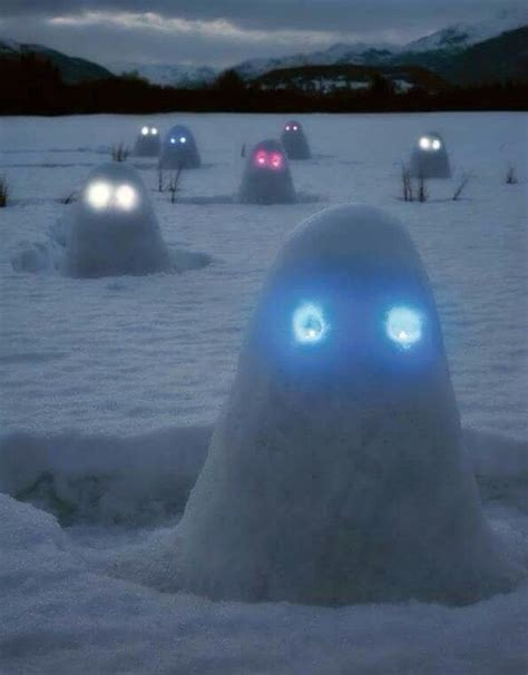 snow glo snow mounds with glow stick eye i will be doing this