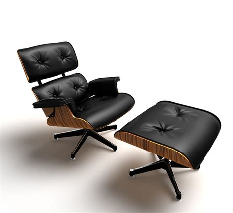 Lounge Chair Cad by Eames Lounge Chair 3d Cad Model Grabcad