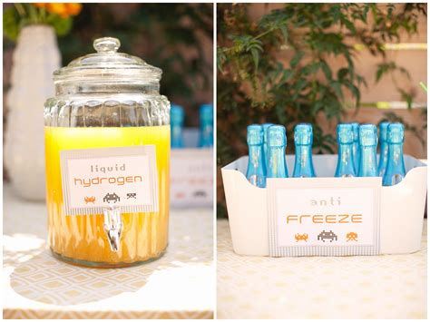 baby shower beverages robot themed baby shower inspired by this