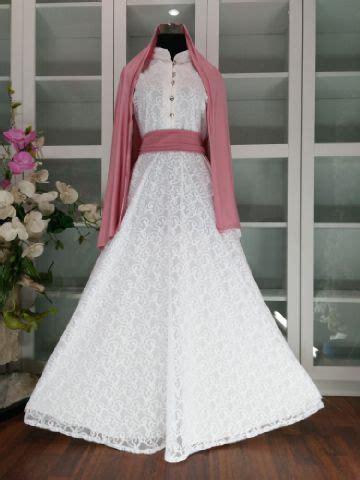 Paling Murah Gamis Syari Tamara White Tosca Baju Gamis baju gamis brokat tamara white p1140a busana muslim pesta