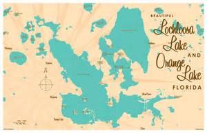 orange lake florida map lochloosa orange lakes fl map print