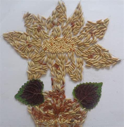 Beras Merah Matahari 1 berbagai contoh gambar kolase dari bahan biji bijian