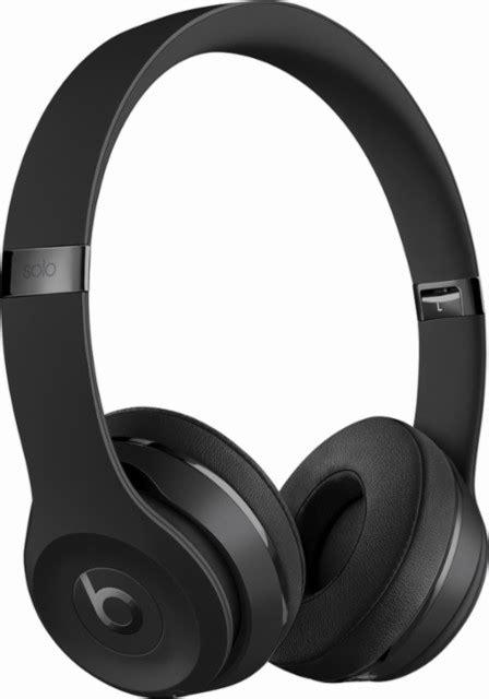 Headphone Dr Beat beats by dr dre beats solo3 wireless headphones black mp582ll a best buy