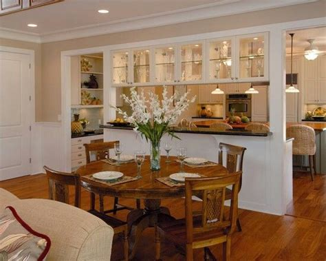 open kitchen wall to dining room open kitchen wall with glass cabinets great way to open kitchen to dining room when we need