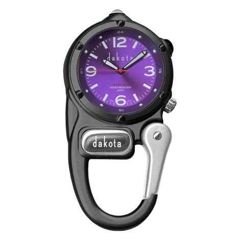 dakota co mini clip with microlight black purple