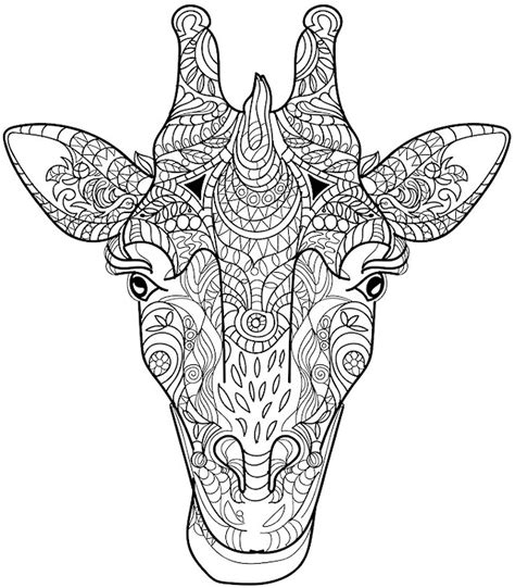 giraffe mandala coloring pages giraffe coloring page colorpagesforadults